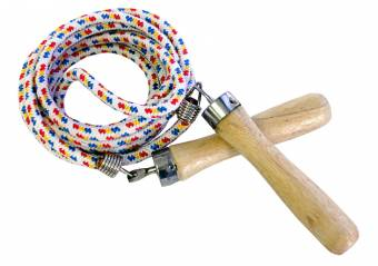 Jump Rope w/ Wooden Handle