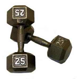 Hexagonal w/ Contour Handle Dumbbells