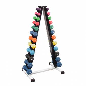 "12 Pair ""A"" Shape Dumbbell Rack"