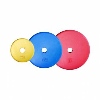 1″ Color Rubber Coated Plates