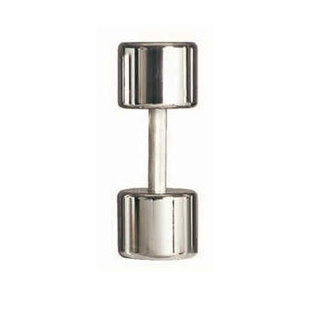 Solid Chrome Plated Dumbbells